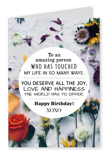 Quote Happy Birthday to an amazing person