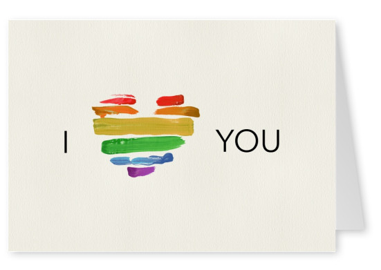 I love you (Rainbow heart)