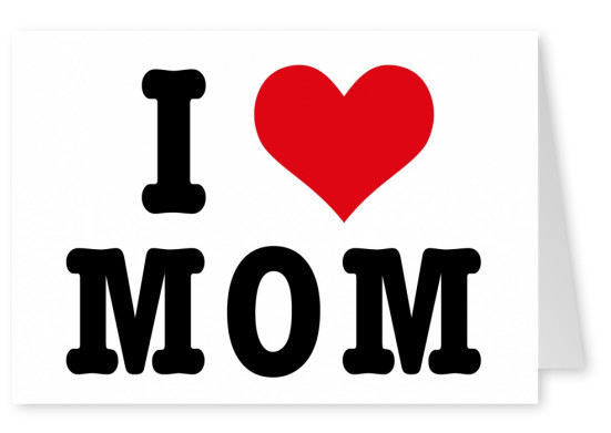 postcard design i love mom