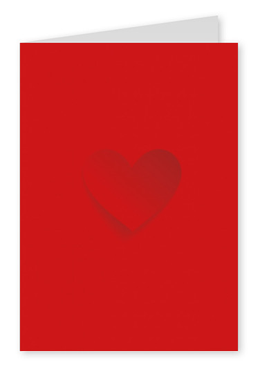 heart postcard red