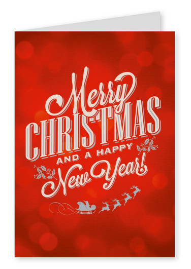 American Vintage Retro Christmas greeting card