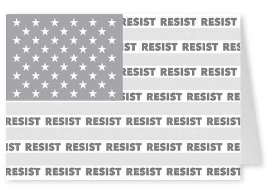 American flag grey resist