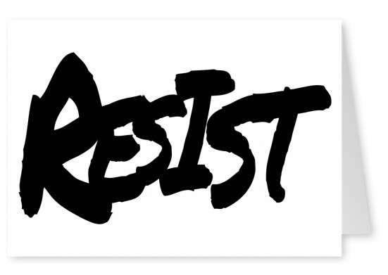 black resist handwritin