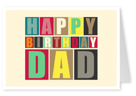retro postcard design happy birthday greeting card