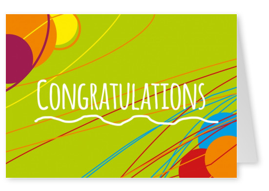 congratulation postcard