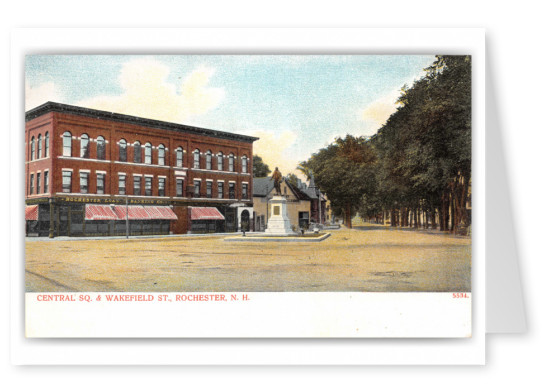 Rochester, New Hampshire, Central Square and Wakefield Street