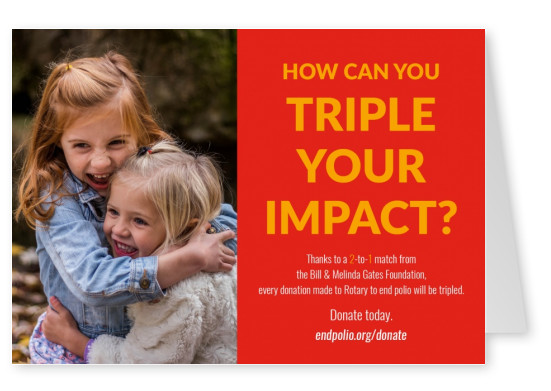 End polio now –  Triple your impact