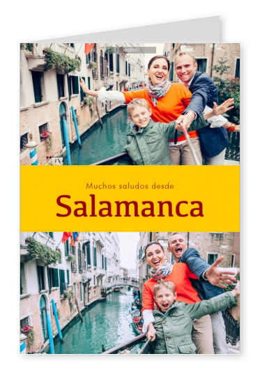 Salamanca Spanish greetings in country-typical colouring & fonts
