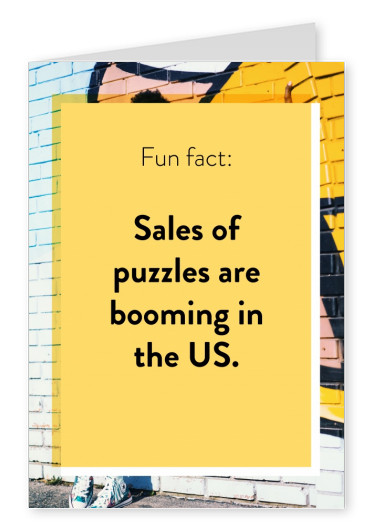 Sales of puzzles are booming in the US