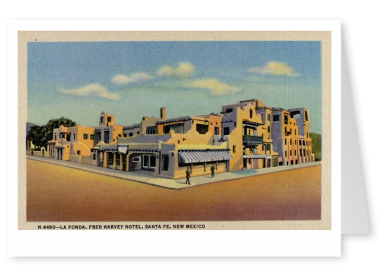 Curt Teich Ansichtkaart Archieven Collectie Fred Harvey Hotel, Santa Fe, New Mexico