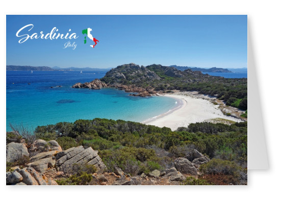 Photo of rocky beach in Sardinia while sun is going down