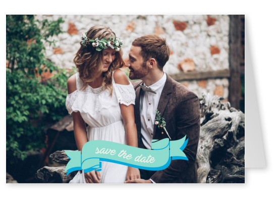 card with bandage save the date