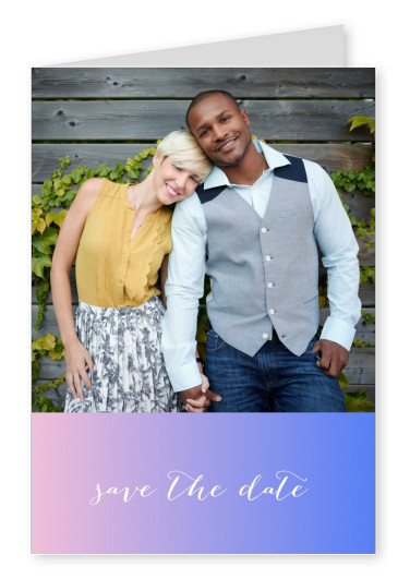 personalized greeting card with color gradient