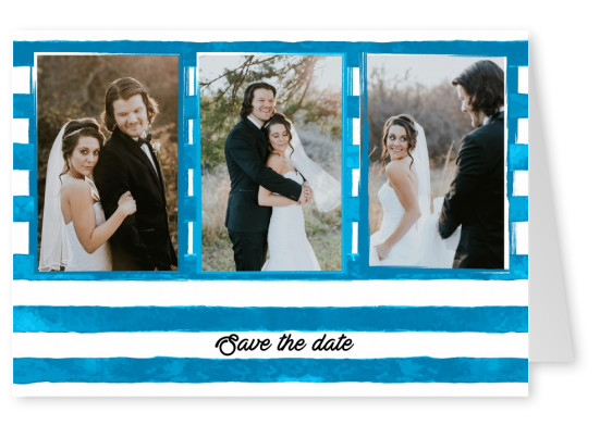 striped postcard personalized