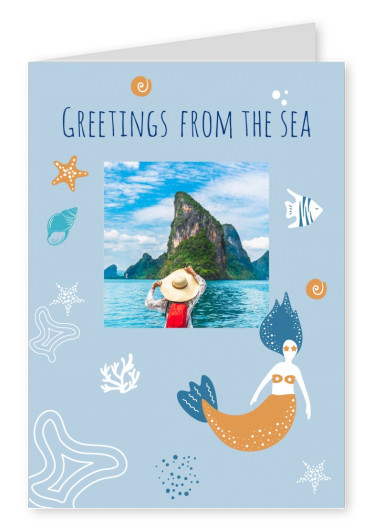 greeting card Meridian Design Greetings from the sea