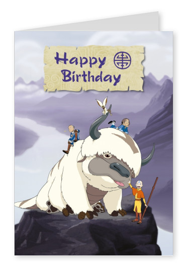 AVATAR: The Last Airbender postcard Happy Birthday