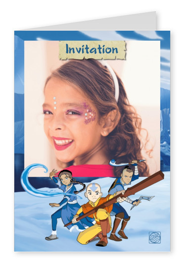 AVATAR: The Last Airbender postcard AVATAR: The Last Airbender Invitation