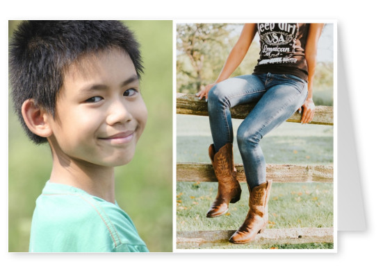 photo US girl in cowboy boots