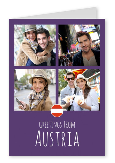 graphic Austria lilac background