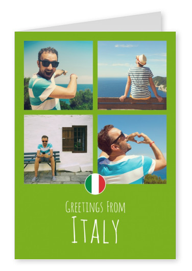 graphic Italy green background