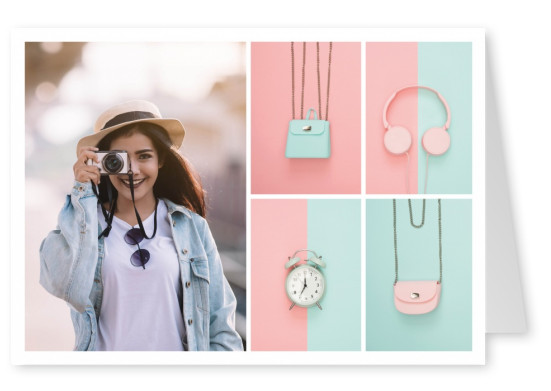 phot pastel coloured items and background