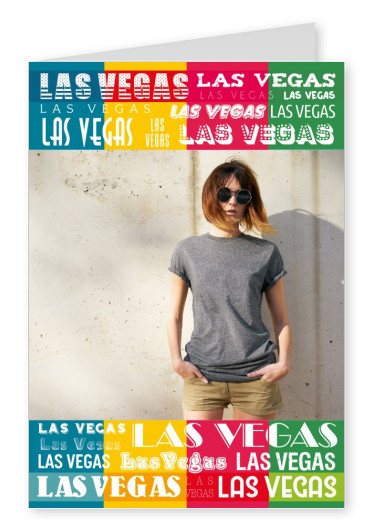 colourful typography collage Las Vegas