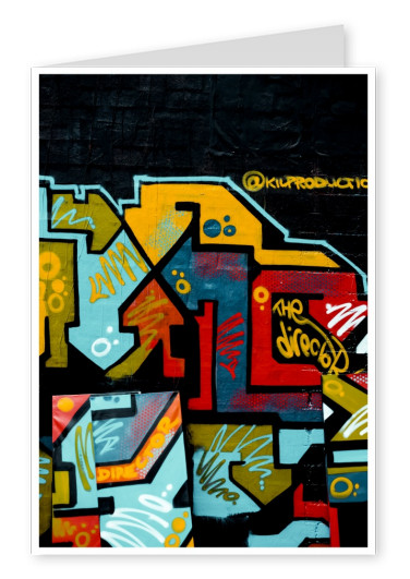 photo graffiti art black yellow red