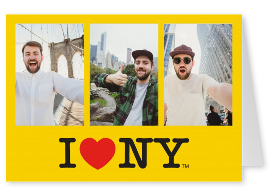 I Love NY - Yellow template