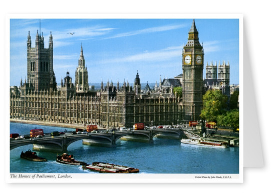 The John Hinde Archive photo House of Parliament and River Thames