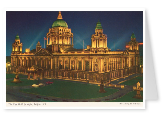 The John Hinde Archive photo Belfast, City Hall by night