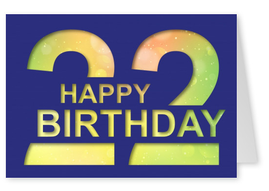 Happy Birthday Postcard Layout 22 Blue Card Years
