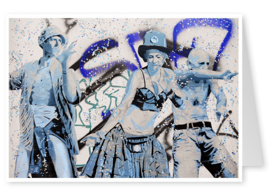 photo street-art Berlin mural dancers