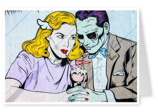 photo street-art pop art comic mural