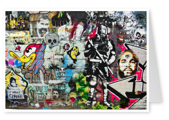 photo street-art door wall collage