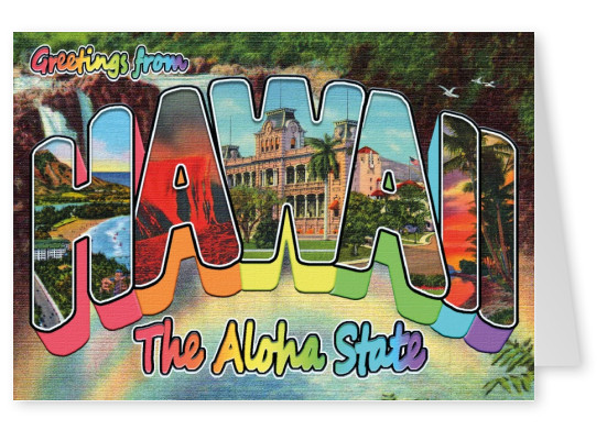 vintage greeting card Hawaii