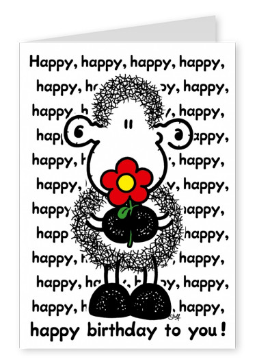 Sheepworld Happy Happy Happy Birthday
