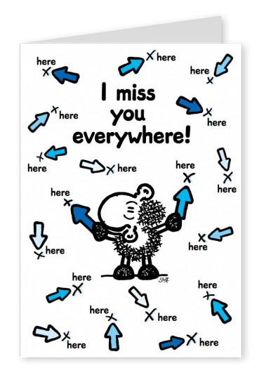 Sheepworld I miss You Everywhere