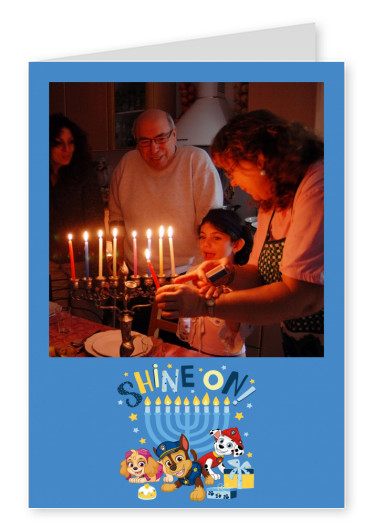 PAW Patrol postcard Shine on! Happy Hanukkah!