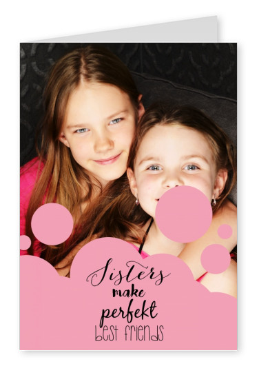 template card with pink background