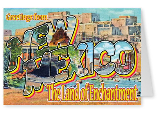 New Mexico retro design