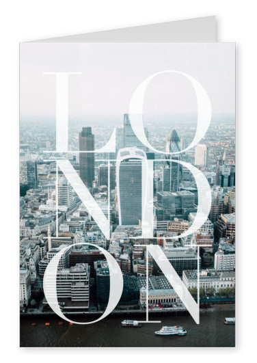 greeting card with a photo of London