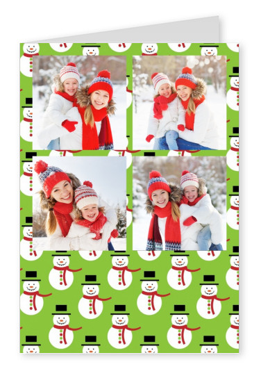 snowmen pattern background