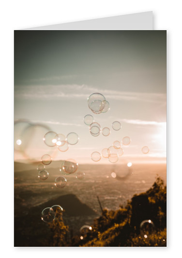 Card with soap bubbles
