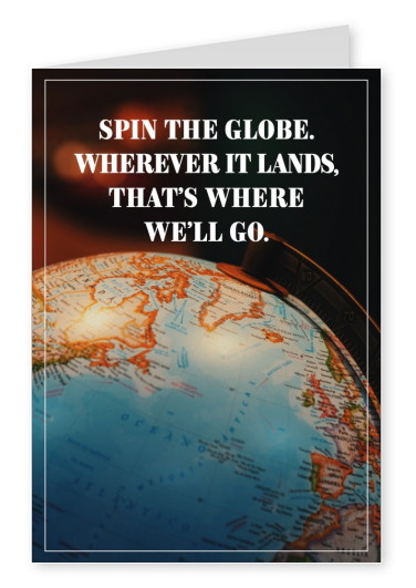 HI USA – Spin the globe quote