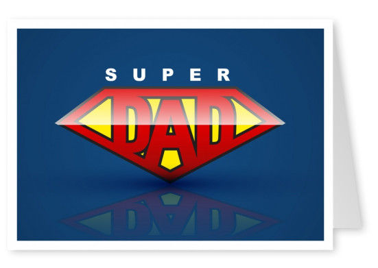 Super Dad in superman look for happy father's day