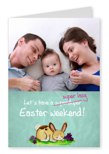 template card with Easter bunny