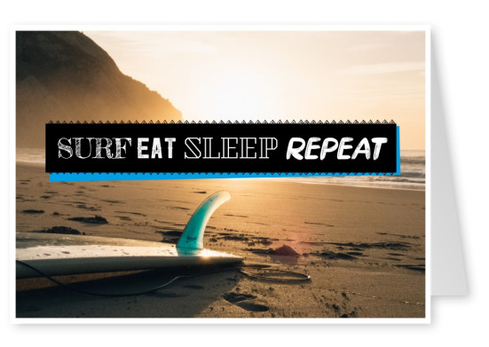 photo citation de Surf Manger Dormir Répéter