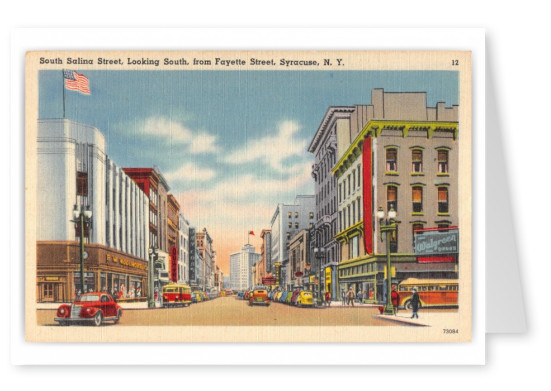 Syracuse, New York, South Salina Street, south from Fayette