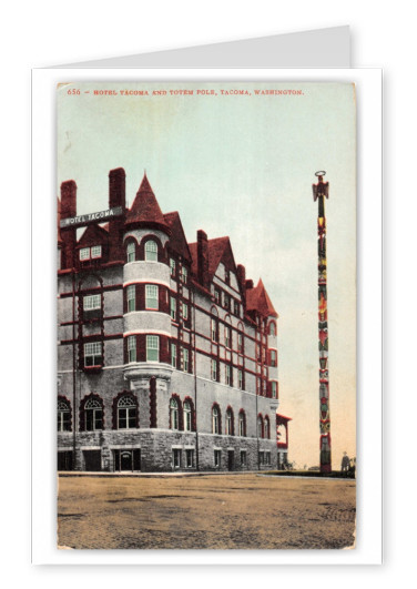Tacoma, Washington, Hotel Tacoma and Totem Pole