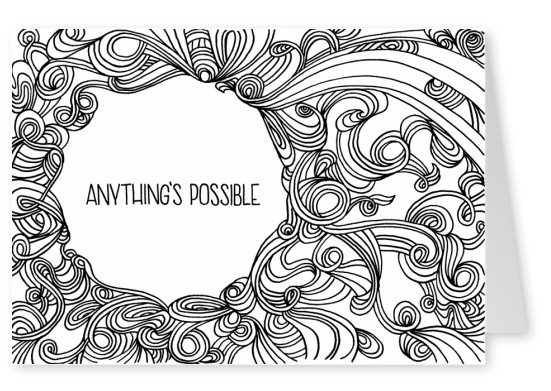 illustration typography Tatjana Buisson anything's possible